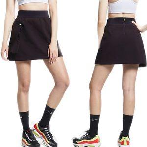 Nike Black Tech Pack Mini Skirt